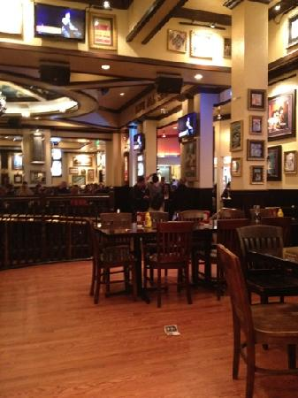 Hard Rock Cafe: view from a private booth
