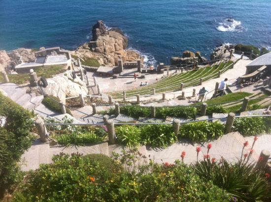 The Corner House : a theater built on a cliff by rowena cade .. lovely place