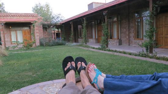 Posada El Encuentro : The courtyard at the hotel