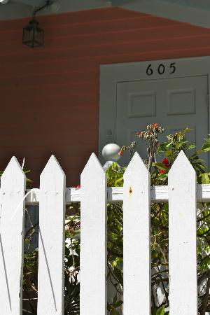 Courtney's Place: Fence and cottage door