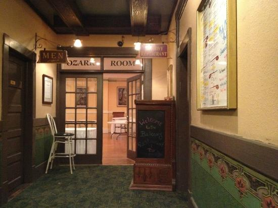 1905 Basin Park Hotel: This is the restaurant and ballroom hallway. Looks as it did in 1967!