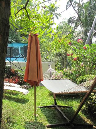 Villa in Paradise: Hammock in the garden at the pool