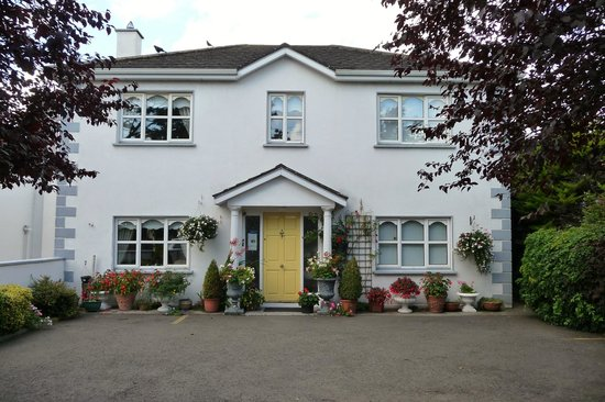 Laois County Lodge: Front of B&B showing parking just off main street