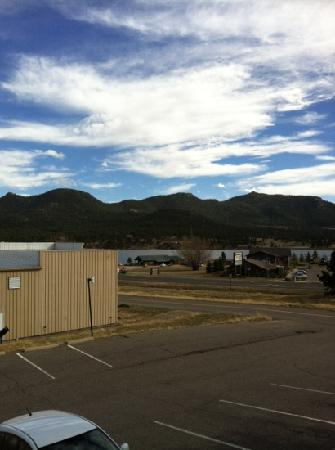 Rodeway Inn Estes Park: the view from our balcony. Minus the building in the corner it's a great view.