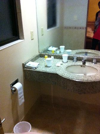Monaco Hotel: Baño desde la puerta de ingreso de la habitación