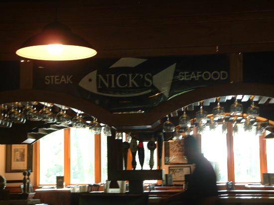 Nick's Steak and Seafood : And my keepsake picutre of our memories at Nick's!