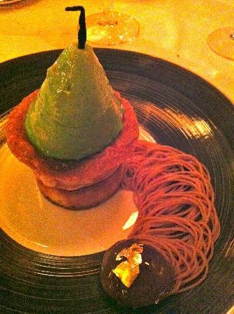 Hotel Le Blizzard: Le dessert marron-poires !