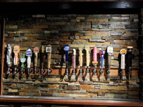 Beer Tap Handles at The Northern Pines Restaurant (dba: The Ponderosa Restaurant)