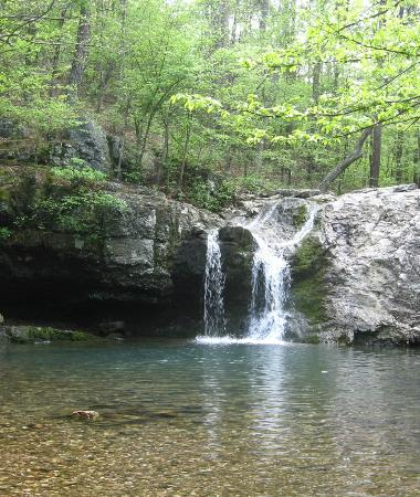 Lake Catherine State Park: The waterfall