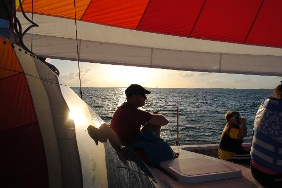 Key Lime Sailing Club and Cottages: Evening sail