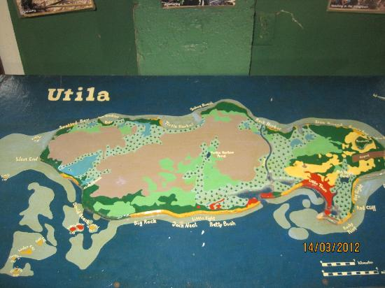 Mango Inn Resort: Utila map