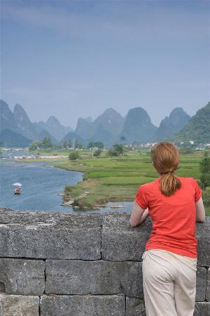 Yangshuo Mountain Retreat: View from Dragon Bridge, Yangshuo China