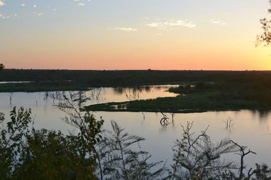 Sunset over Pioneer Dam - Mopani Rest Camp