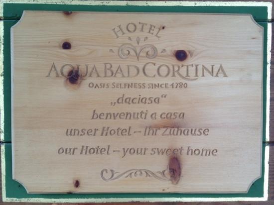Hotel Aqua Bad Cortina: Aqua bad cortina