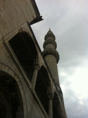 Turkland Tours Istanbul Day Tours: One of the 6 minarets of the Blue Mosque