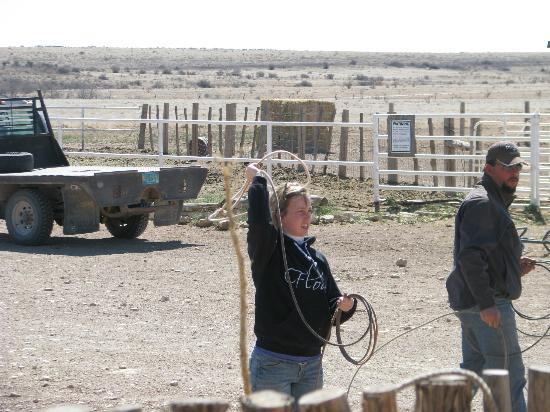 Burnt Well Guest Ranch: Learning to rope