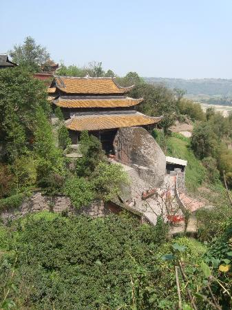 Hechuan Laitan Ancient Town: view of the temple