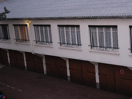 "Hotel du Cheval Rouge : View of other ""stable"" rooms from room #234"