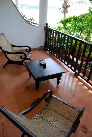 Kingfisher Hotel: terrasse du 1er étage