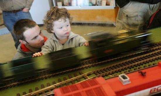 Surrey Museum : Child friendly train disply