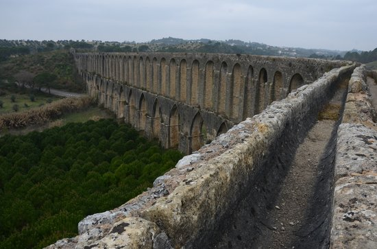 Pegoes Aqueduct in Tomar