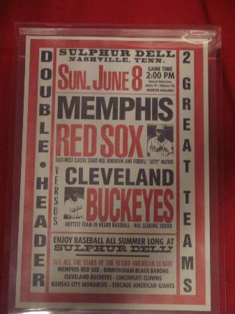 Pink Palace Museum : poster featuring Memphis Red Sox of the Negro Baseball League