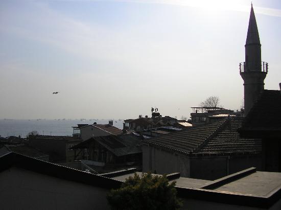 Hotel Sphendon: Vue depuis la terrasse de l'hôtel