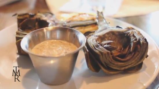 The Milias Restaurant: Grilled artichokes