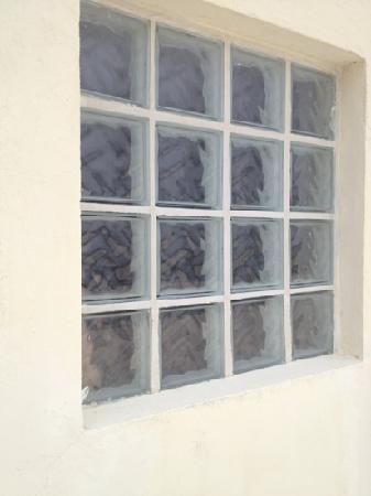 Calypso Hotel: glass bricks and no curtains guarantee u will not sleep