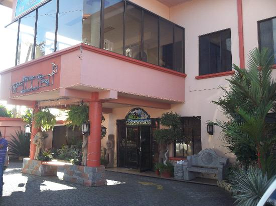 Adventure Inn: The front of the hotel