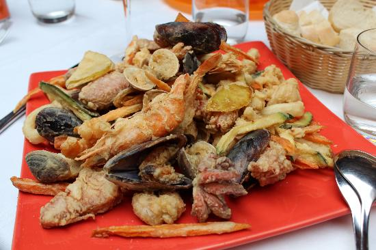 Osteria Antico Giardinetto: fried seafood platter