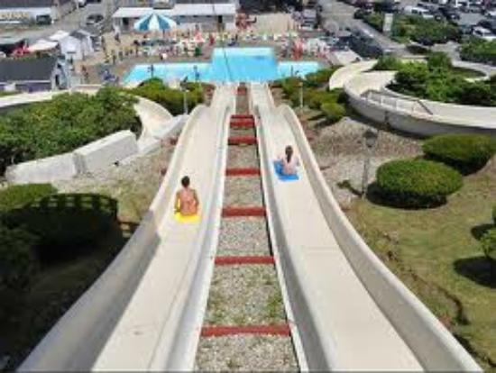 Water Wizz: You can race your friends on these water slides.