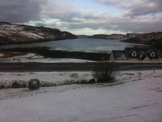 Rhiconich Hotel: this is the view from our window when we stayed at the Rhiconich