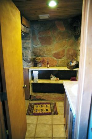 Valley of the Gods Bed and Breakfast: stone bathroom