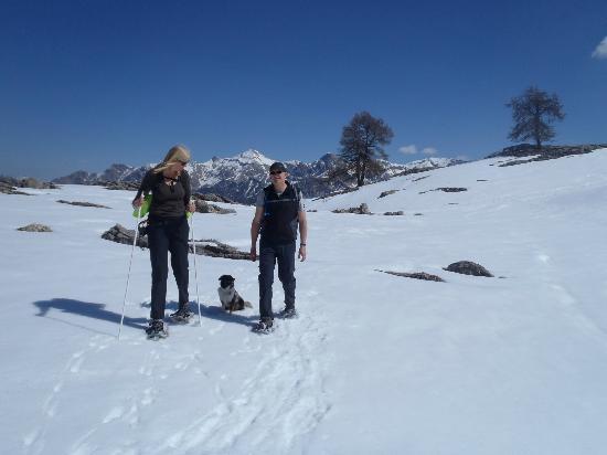 Gite AlpeLune: `Tetes` te bereiken met raquettes of langlaufskie´s lopend vanaf AlpeLune