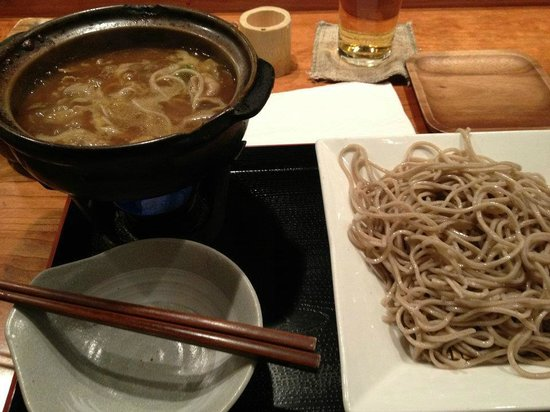 Cocoron: this was the pork japanese curry dipping soba that my man had