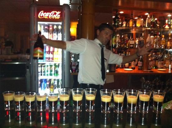 Iliada Beach Hotel: the bar man makis