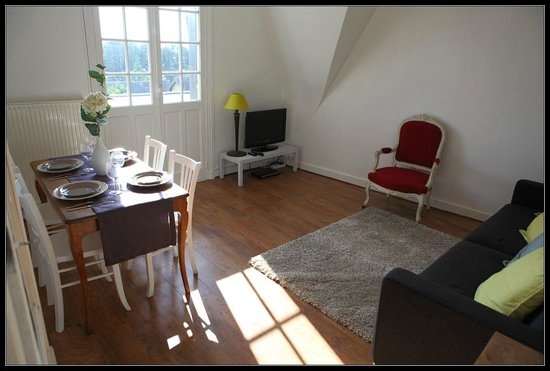 Manoir du Vert Galant: Appartement Ceriseraie 2 pièces salle de séjour