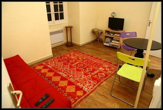 Manoir du Vert Galant : Studio Yearling Salle de séjour