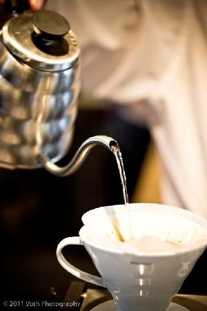Good Omens Coffeehouse: Pour over coffee