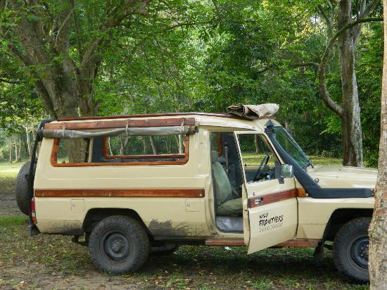 Ishasha Wilderness Camp: The Wild Frontiers Safari Vehicle