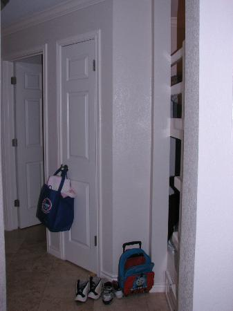 Seascape Condominium Rentals: view from living area to bunks in hallway, unit 2222