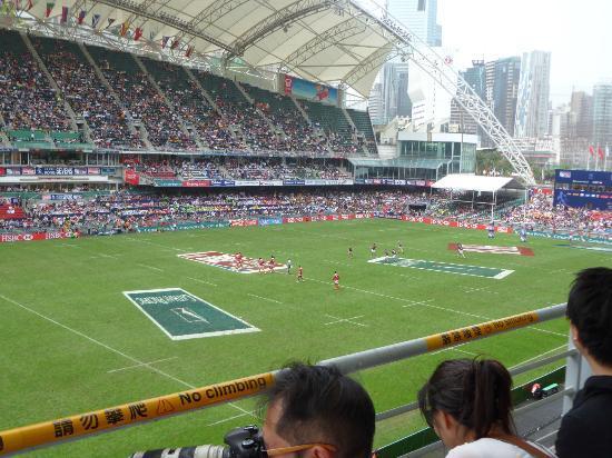 Hong Kong Stadium: Watching the game. Go NZ!