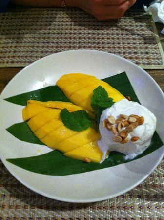 Arun@Samui : mango coconut ice cream