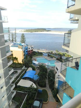 Breakfree Grand Pacific Resort Sunshine Coast: This is taken from room 114 on the 9th level, great view.