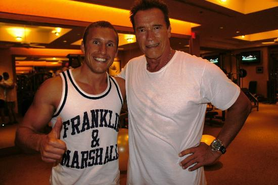 Four Seasons: Me and Arnold in the gym