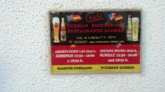 Restaurante Aleman: hours