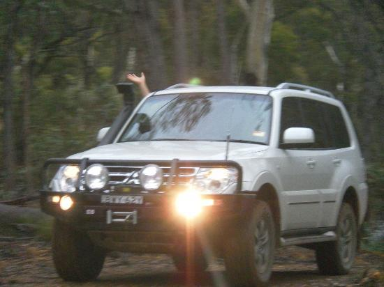 Abercrombie Caves: One of the cars on the tag along