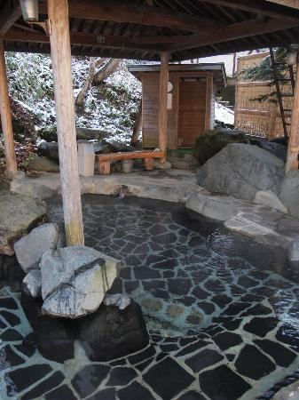 Kiriake Riverside House: 昼の露天風呂