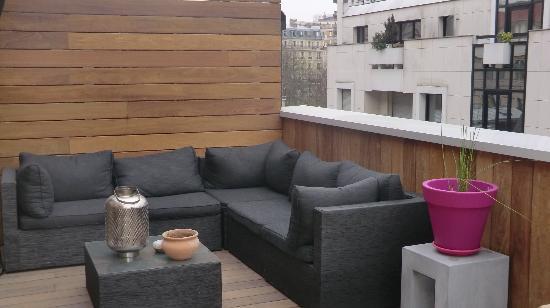 La Maison de Claire: la terrasse sur le toit